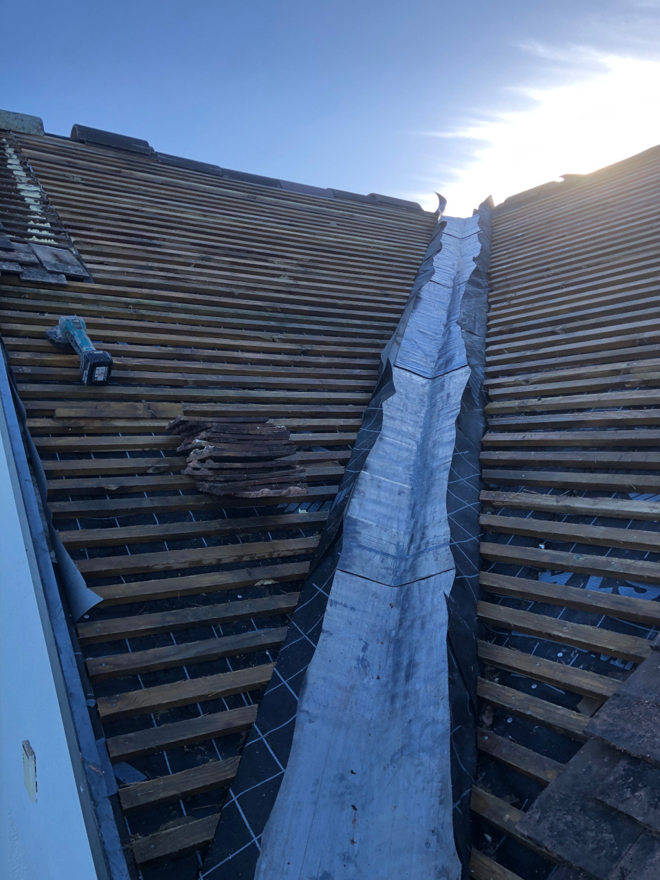 Full slate roof replacement.