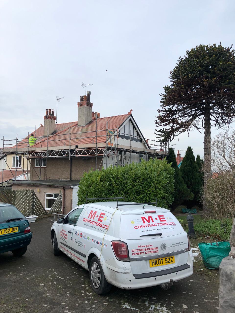 Tile roof repair in Rhos on Sea.