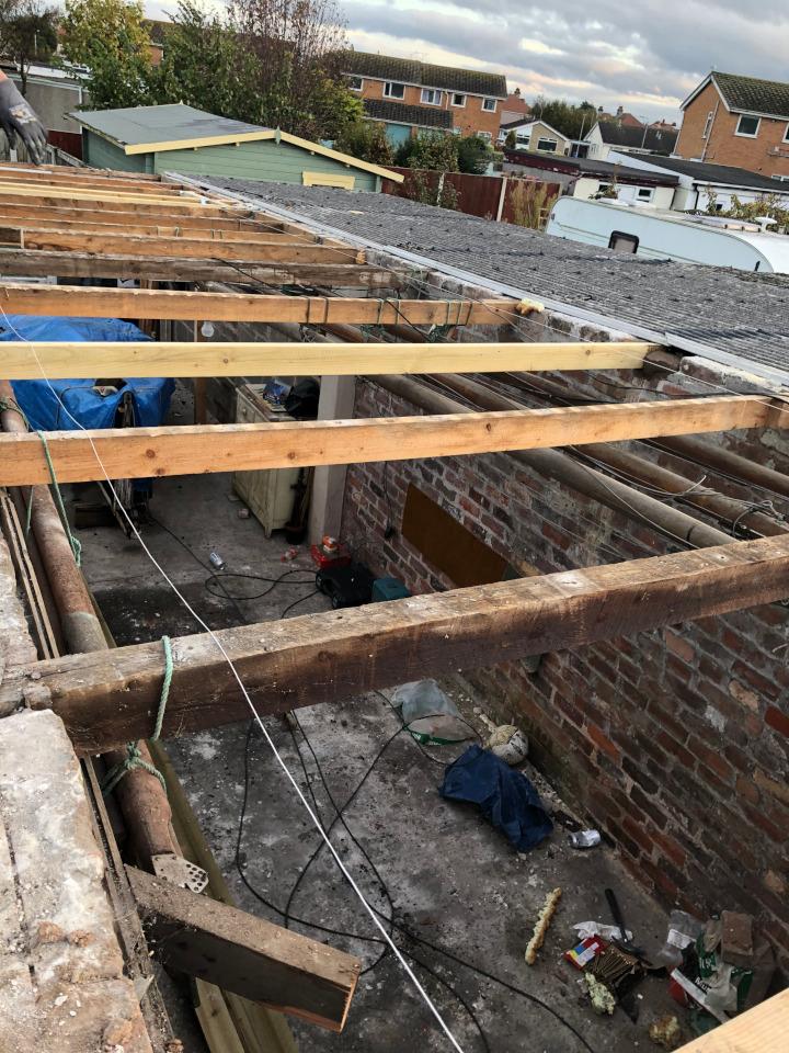 Flat roof sheeting repair Rhos on Sea, Colwyn Bay.