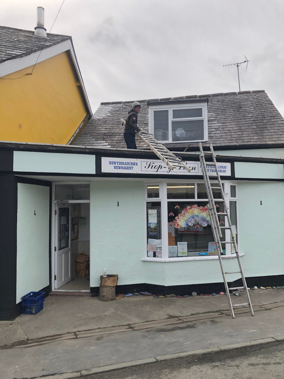 Slate roof repair.