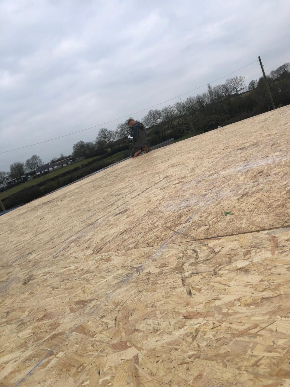 Flat roof repair.