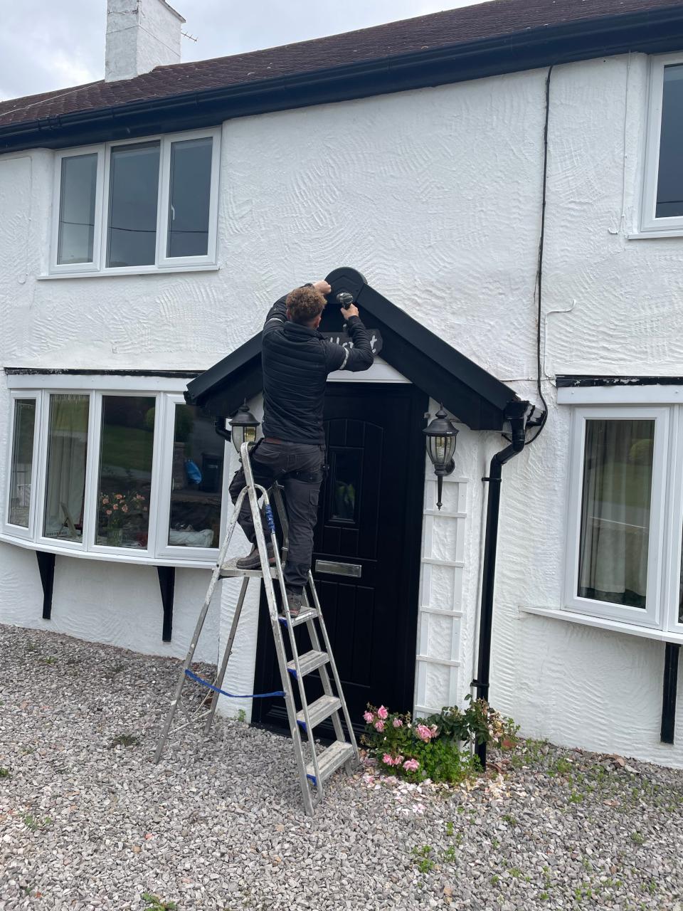 Slate roof repair in Abergele.