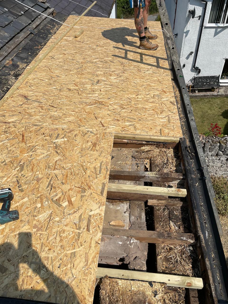 EPDM Rubber flat roof.